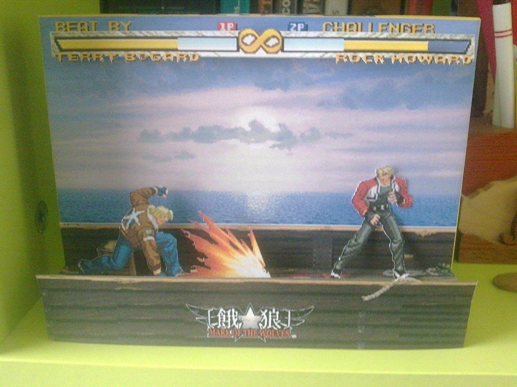 Garou Mark of the Wolves Papercraft Diorama